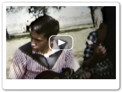 Roland White, Eric White, Clarence White Home Movie 1958