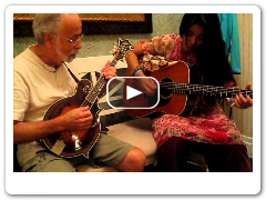 "Mariko Ono, guitar and Roland White, mandolin, play ""Laughing Guitar"""
