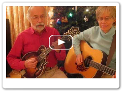 Roland White plays Rudolph The Red-Nosed Reindeer - mandolin with guitar