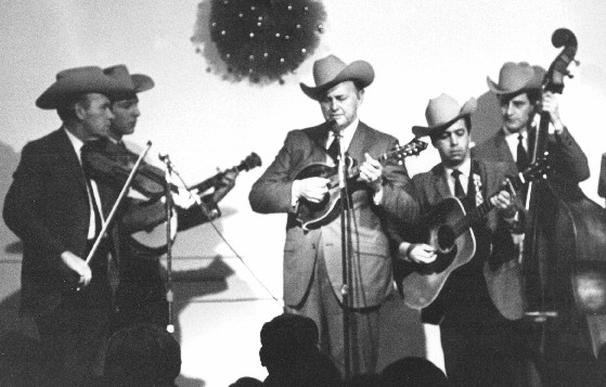 Roland White with Bill Monroe and the Blue Grass Boys, Christmas, 1968